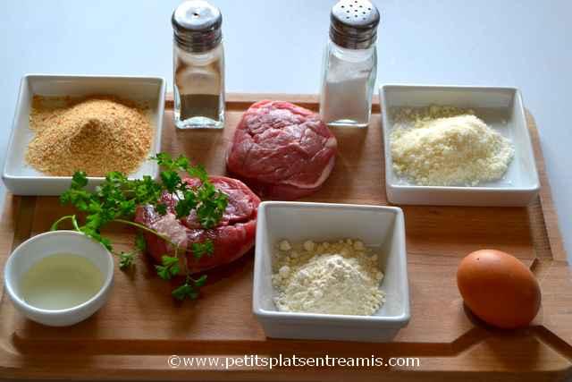 ingrédients médaillons d'agneau panés