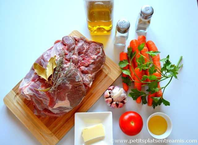 ingrédients pour gigot d'agneau en cocotte