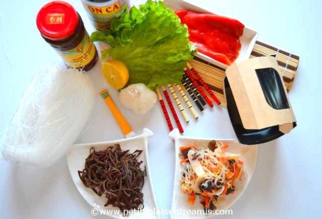 ingrédients pour salade asiatique