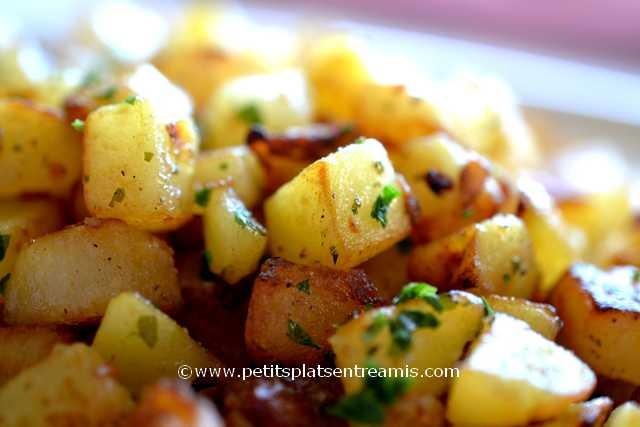 pommes de terre sautées à la une