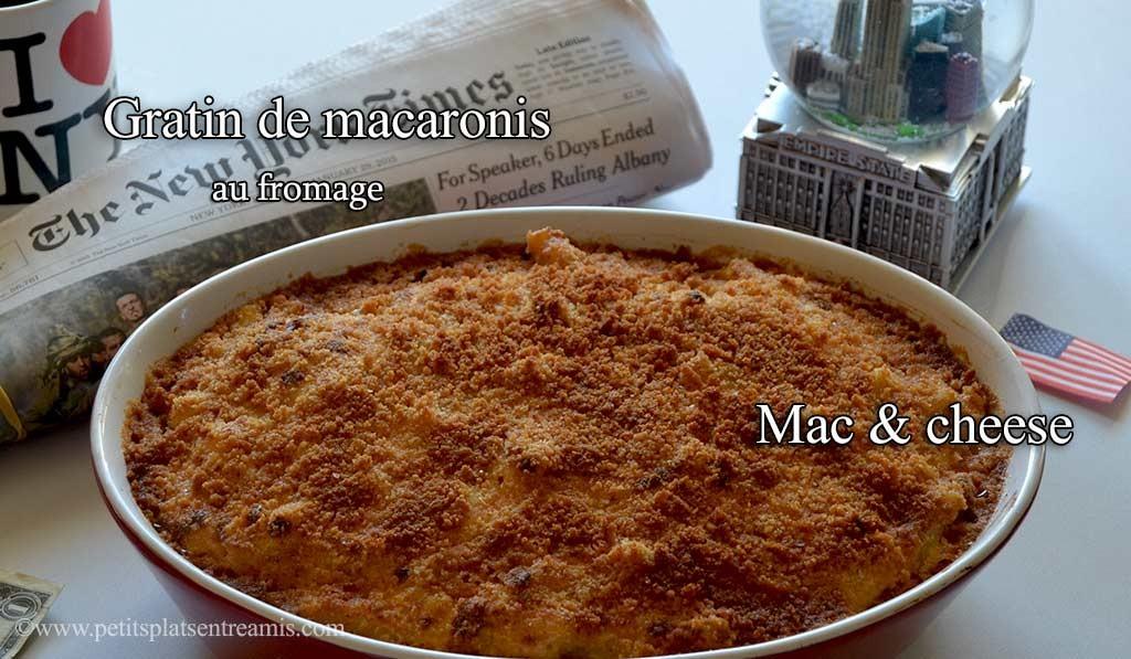 recette du gratin de macaronis au fromage mac and cheese petits plats entre amis. Black Bedroom Furniture Sets. Home Design Ideas