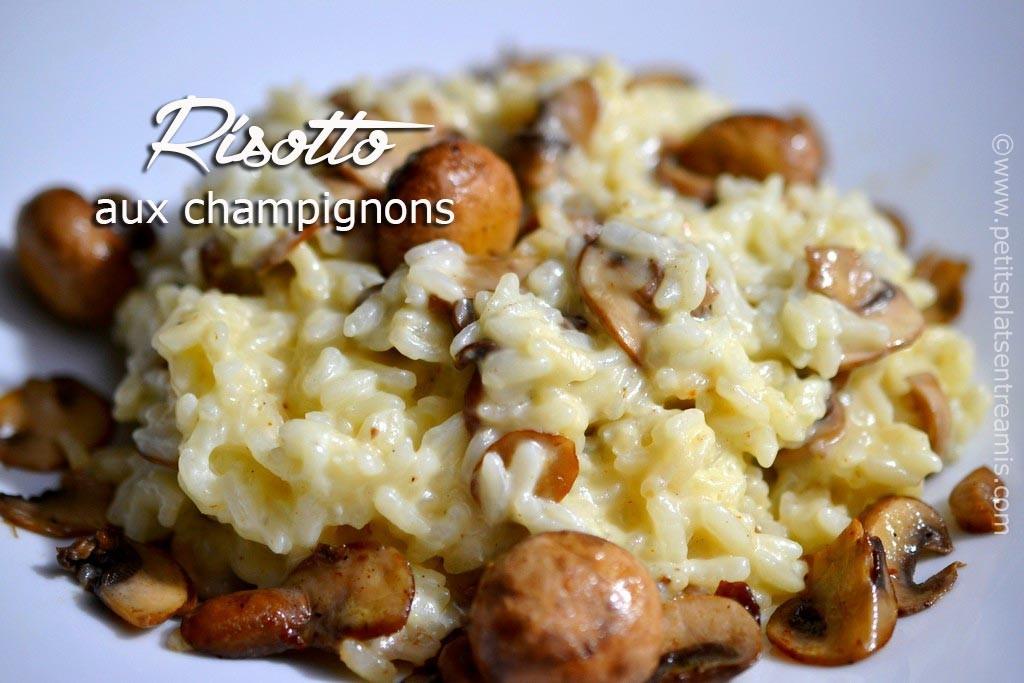 Risotto aux champignons la recette d licieuse et facile for Repas noel entre amis