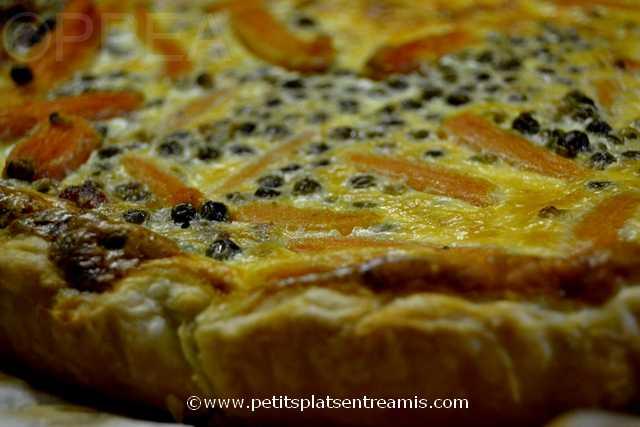 tarte aux petits pois et carottes à la une