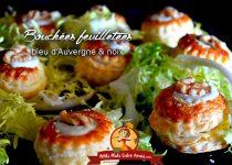 Bouchées feuilletées au bleu d'Auvergne et noix