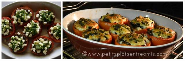 cuisson des tomates farcies aux champignons