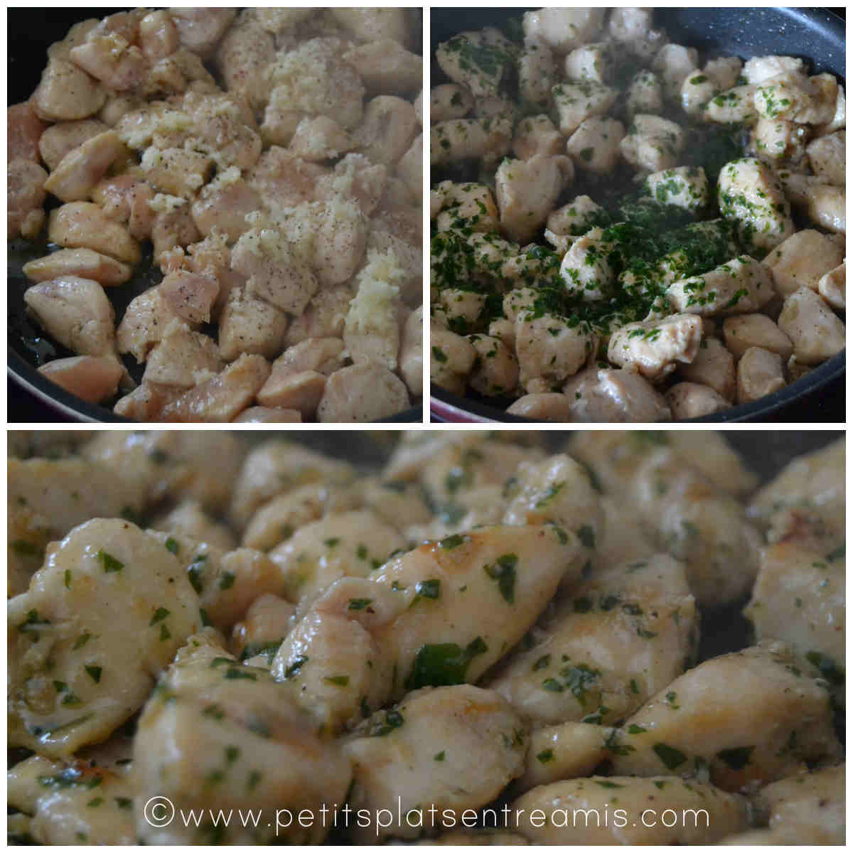 cuisson du poulet sauté