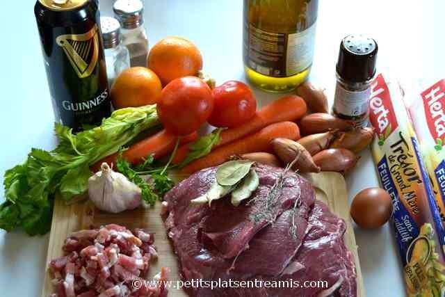 ingrédients pour Guinness pie