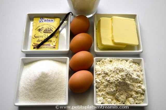 ingrédients pour gâteau magique