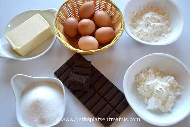 ingrédients pour reine de saba gâteau