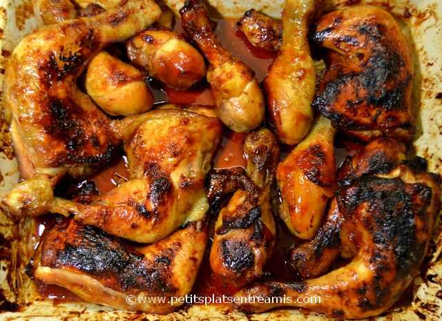 plat de cuisses et pilons de poulet à la texane