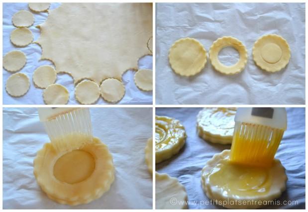 préparation des bouchées feuilletées