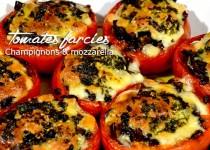 Tomates farcies aux champignons et mozzarella
