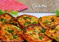 Galettes pommes de terre & poulet