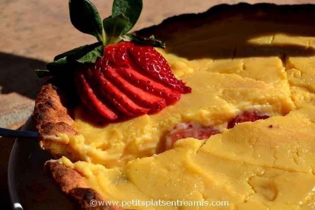 tarte au fraises à la une