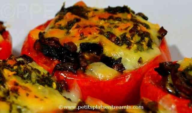 tomates farcies aux champignons à la une