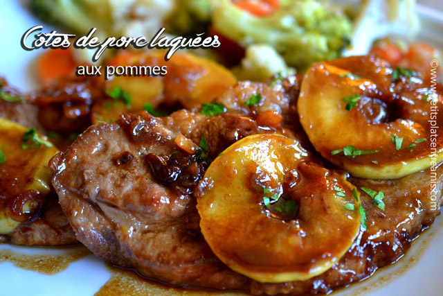 Côtes-de-porc-laquées-aux-pommes