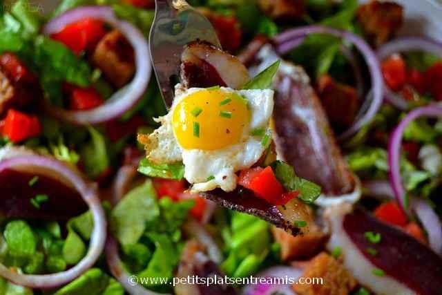 bouchée de salade au magret séché