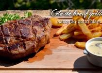 C te de boeuf grill e sauce au porto blanc petits plats entre amis - Duree cuisson cote de boeuf ...
