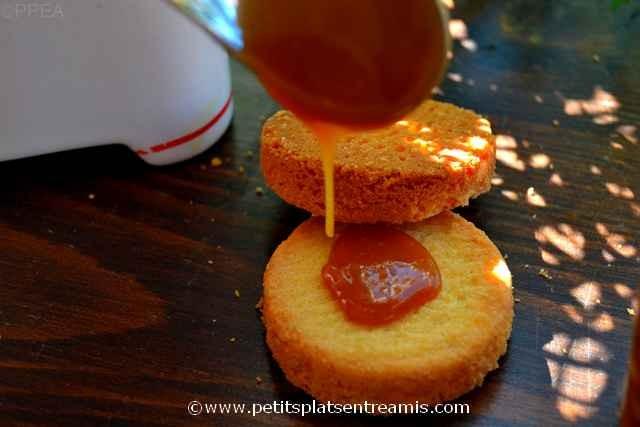 caramel au beurre salé sur biscuit