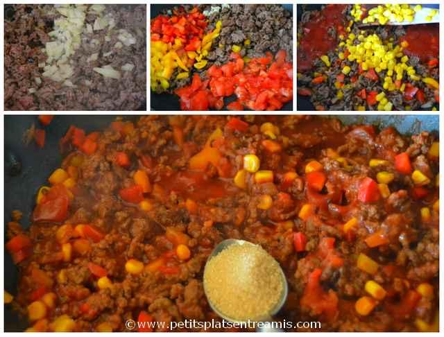 cuisson de la viande pour tacos