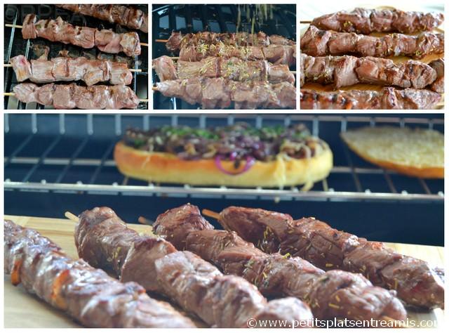 Recette de brochettes de boeuf au barbecue petits plats entre amis - Brochettes aperitives sans cuisson ...