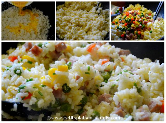 cuisson du riz cantonais