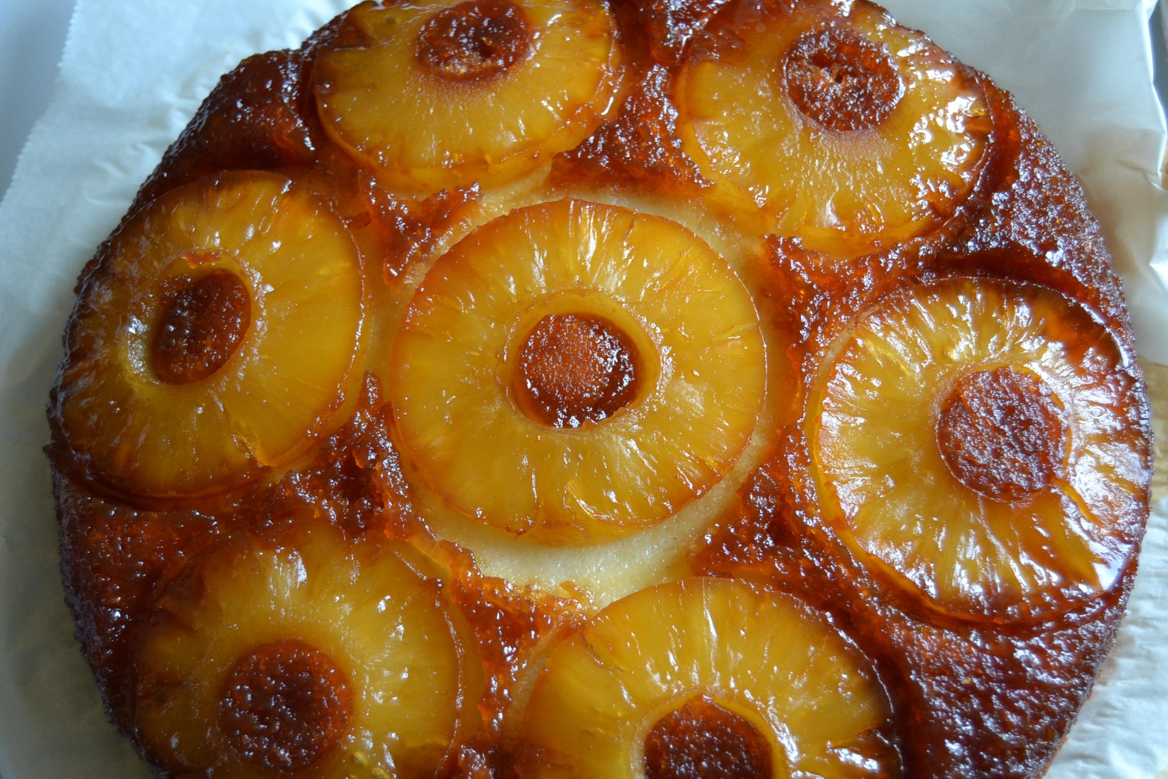 gâteau ananas démoulé