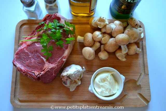 ingrédients pour côte de boeuf grillé