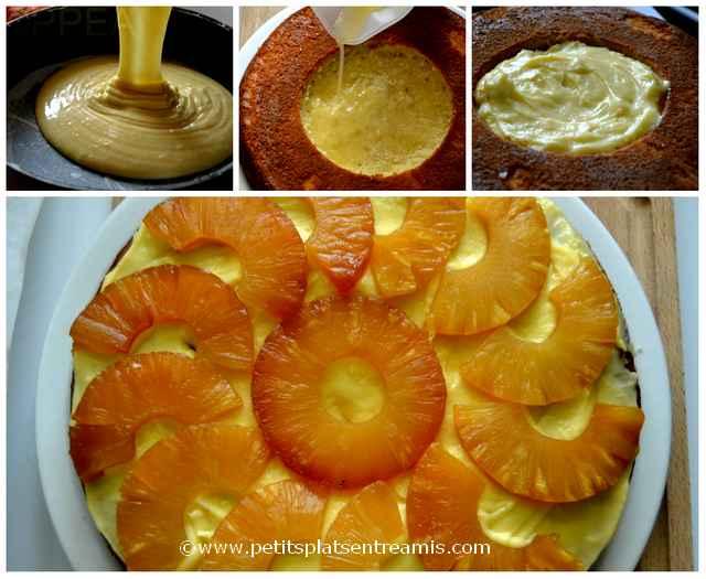 montage gâteau ananas et crème