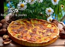 Tarte roquefort & poires