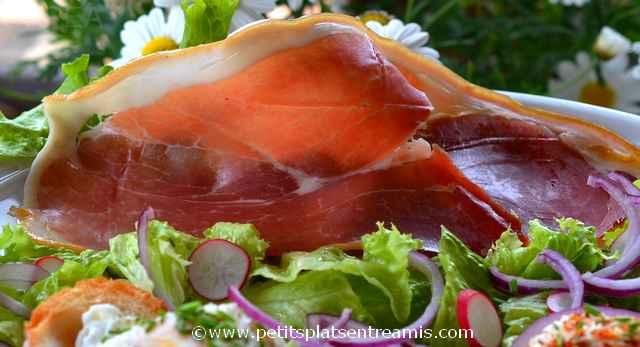 salade au jambon de pays à la une