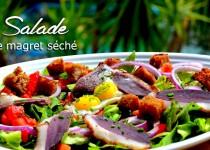 Salade de magret séché