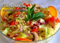 Salade de pâtes au parfum d'agrumes