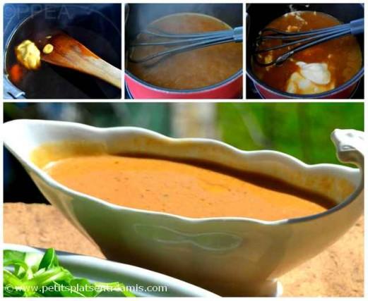 sauce à la crème pour onglet