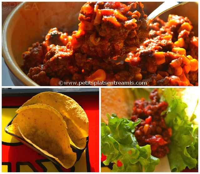 tacos au boeuf garni