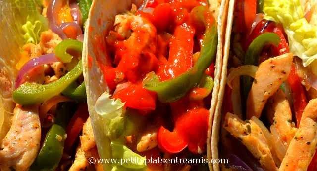 tacos au poulet à croquer
