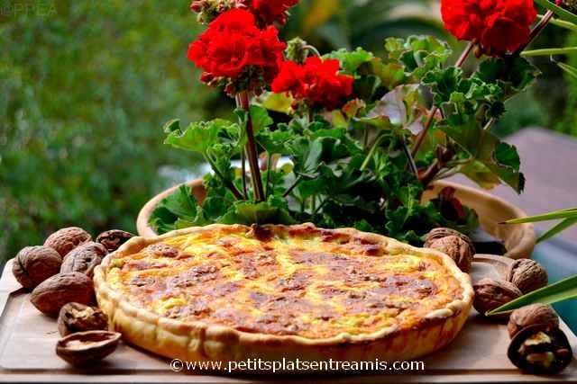 tarte roquefort et noix