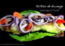 Harengs pommes à l'huile en tartine