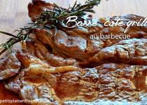 Basse côte de boeuf au barbecue