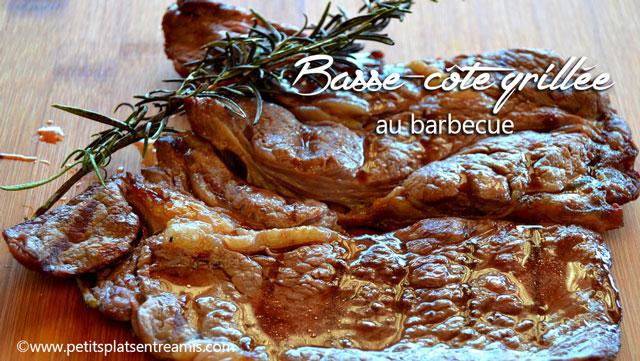 Basse c te de boeuf au barbecue petits plats entre amis - Cote de boeuf barbecue weber ...
