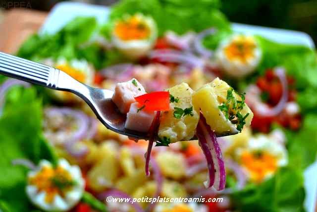 bouchée de salade de pommes de terre