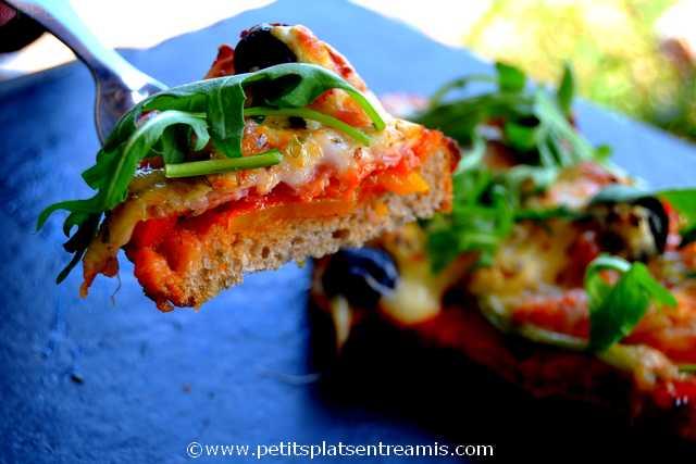 bouchée de tartine méditerranéenne