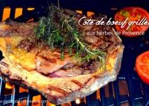 Côte de boeuf grillée aux herbes de provence