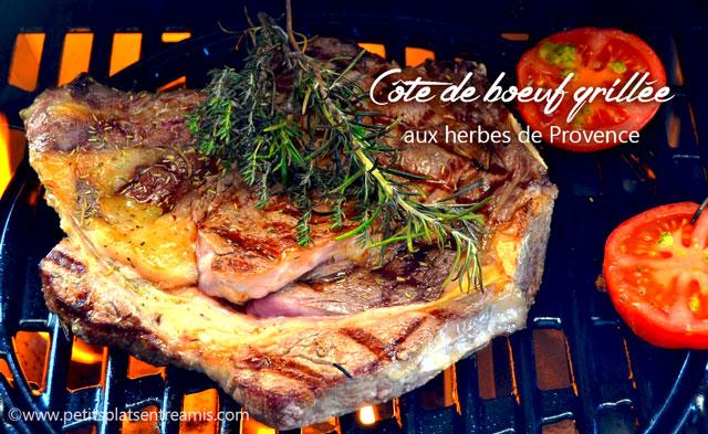 C te de boeuf grill e aux herbes de provence petits - Comment griller une cote de boeuf au barbecue ...
