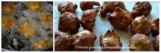 cuisson beignets soufflés aux champignons