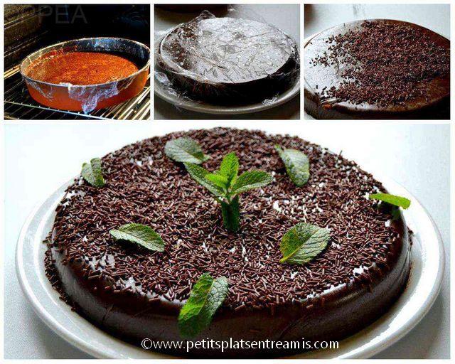 cuisson et finition du fondant au chocolat
