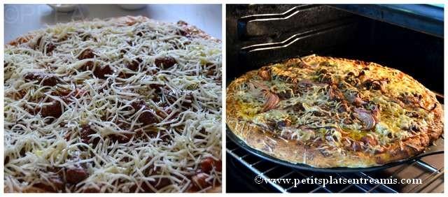 cuisson pizza merguez