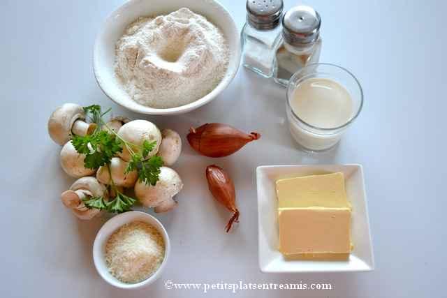 ingrédients beignets-soufflés-aux-champignons