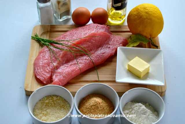 ingrédients escalope milanaise
