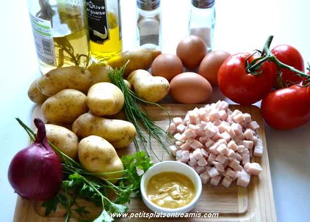 ingrédients salade de pommes de terre